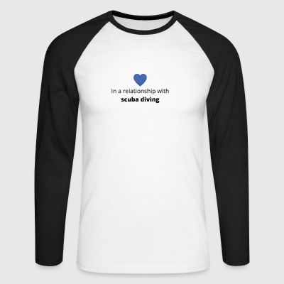 gift single taken relationship with scuba diving - Männer Baseballshirt langarm