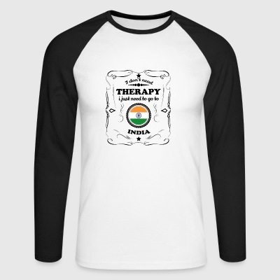 DON T therapie nodig GO INDIA - Mannen baseballshirt lange mouw