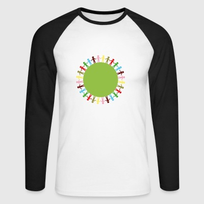 Community Circle - Men's Long Sleeve Baseball T-Shirt