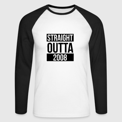 Straight Outta 2008 - Men's Long Sleeve Baseball T-Shirt