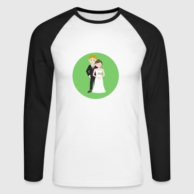 wedding - Men's Long Sleeve Baseball T-Shirt