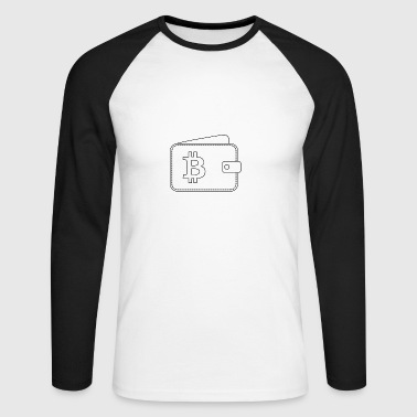 Bitcoin Wallet Icône - T-shirt baseball manches longues Homme