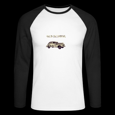 old school - Men's Long Sleeve Baseball T-Shirt