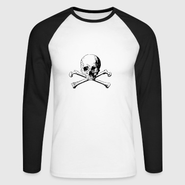 Skull - Men's Long Sleeve Baseball T-Shirt