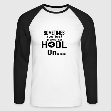 Gift Hodl Hold on XRP crypto crypto coin - Men's Long Sleeve Baseball T-Shirt