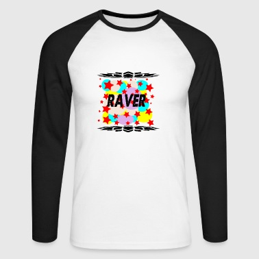 raver - Men's Long Sleeve Baseball T-Shirt