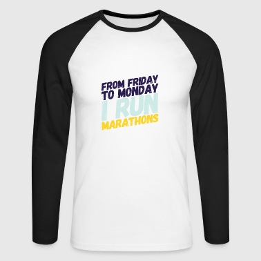marathon runner - Men's Long Sleeve Baseball T-Shirt