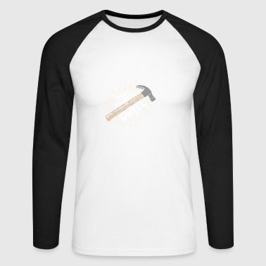 This is not a Drill! Carpenter funny wood hammer - Men's Long Sleeve Baseball T-Shirt