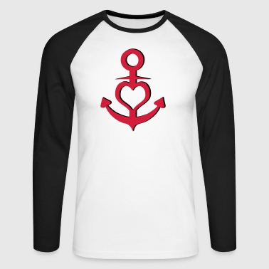 L'amour l'amour ancre coeur - T-shirt baseball manches longues Homme