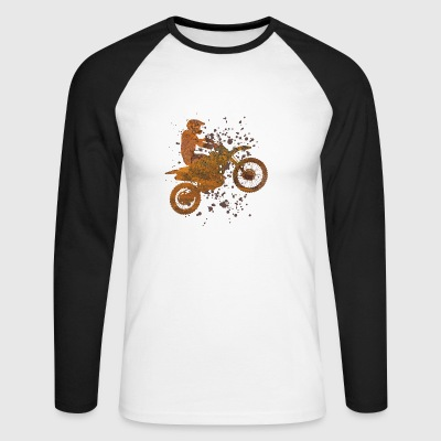 Spotting motocross - Men's Long Sleeve Baseball T-Shirt