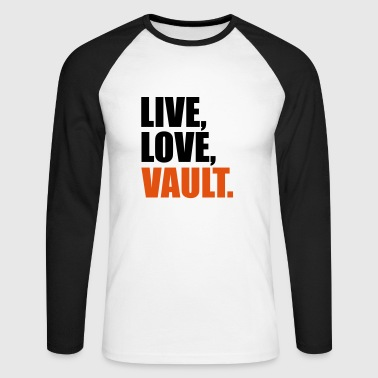 2541614 14518584 vault - Men's Long Sleeve Baseball T-Shirt