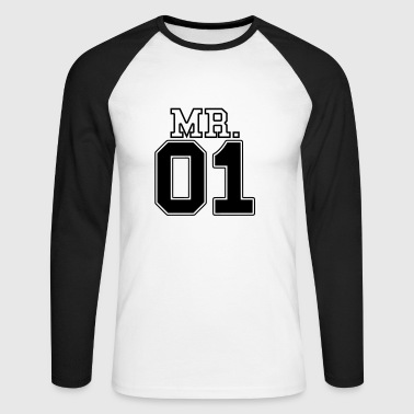 MR. 01 Monsieur et Madame paire JGA PartnerLook Partie 1 - T-shirt baseball manches longues Homme