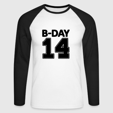 14 number fourteen / birthday number number jersey - Men's Long Sleeve Baseball T-Shirt