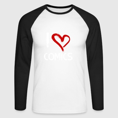 I love comics - Men's Long Sleeve Baseball T-Shirt