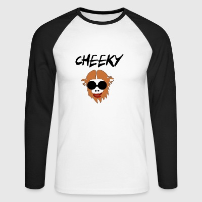 cheeky monkay - Men's Long Sleeve Baseball T-Shirt