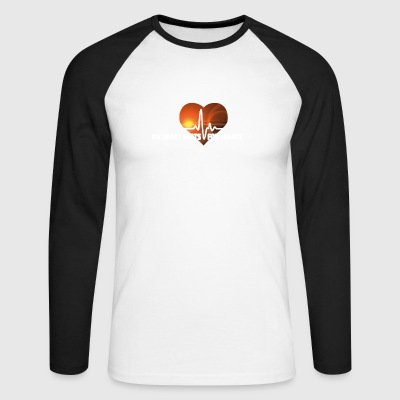 My Heart beats for Trance - Männer Baseballshirt langarm