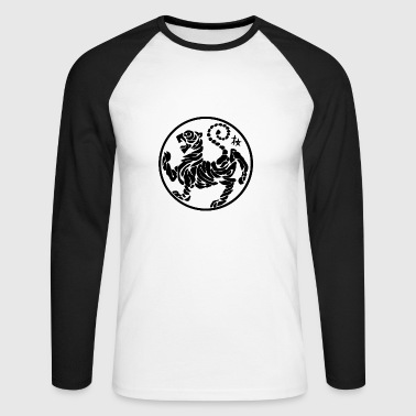 Shotokan Tiger - Men's Long Sleeve Baseball T-Shirt