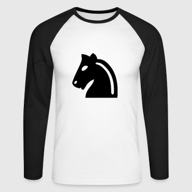 Chess horse - Men's Long Sleeve Baseball T-Shirt