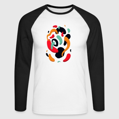 abstract - Mannen baseballshirt lange mouw