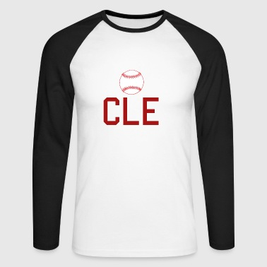 Cleveland Baseball Throwback CLE - T-shirt baseball manches longues Homme