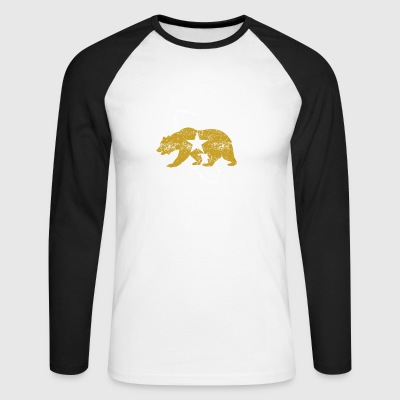 Californie Golden State Ours - T-shirt baseball manches longues Homme