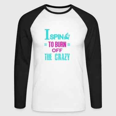 I spider to burn off the crazy - Men's Long Sleeve Baseball T-Shirt