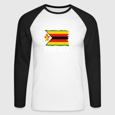 Pride flag flag home origin origin Zimbabwe png - Men's Long Sleeve Baseball T-Shirt