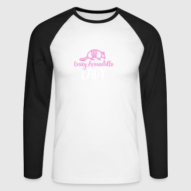 Crazy Armadillo Lady T-Shirt - Cute Armour Shell - Men's Long Sleeve Baseball T-Shirt