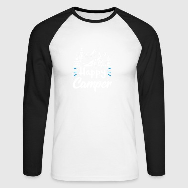 Happy Camper - Men's Long Sleeve Baseball T-Shirt