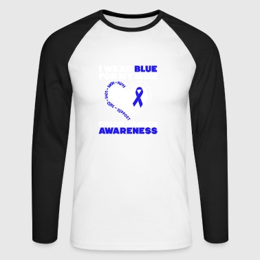 Colon Cancer Awareness T-shirt - Männer Baseballshirt langarm