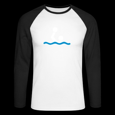 water polo - Men's Long Sleeve Baseball T-Shirt