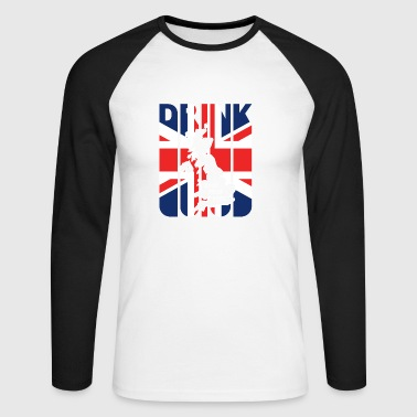 Drink Beer from Great Britain Gifts. Drink lover - Men's Long Sleeve Baseball T-Shirt