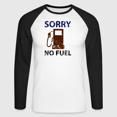 no fuel - Men's Long Sleeve Baseball T-Shirt