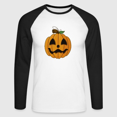 Cartoon Pumpkin Halloween - Men's Long Sleeve Baseball T-Shirt