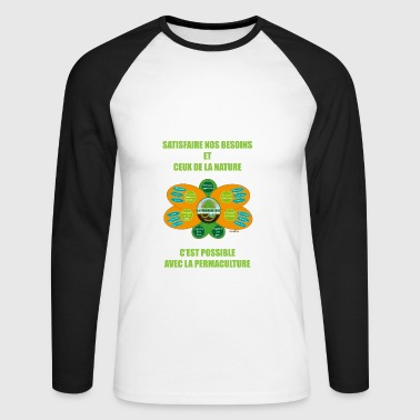 Ethics and Principles of Permaculture - Men's Long Sleeve Baseball T-Shirt