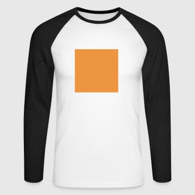 Orange Square - Men's Long Sleeve Baseball T-Shirt