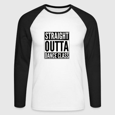 classe Straight Outta blanc - T-shirt baseball manches longues Homme