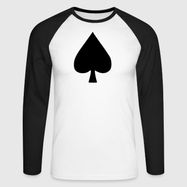 Poker – Spades - Men's Long Sleeve Baseball T-Shirt