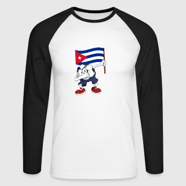 Cuba tamponnant Football - T-shirt baseball manches longues Homme