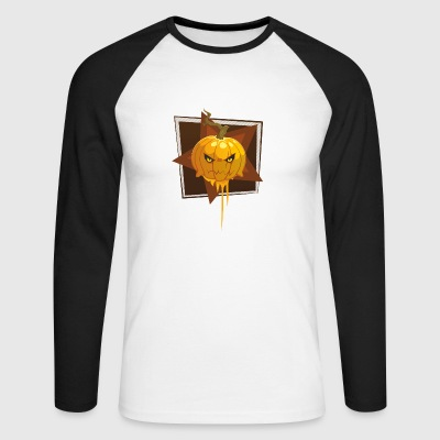 citrouille d'Halloween - T-shirt baseball manches longues Homme