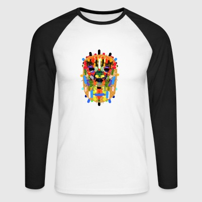 Mayan mask - Men's Long Sleeve Baseball T-Shirt