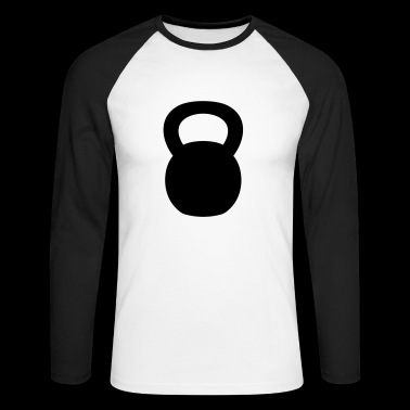 Kettlebell - Men's Long Sleeve Baseball T-Shirt