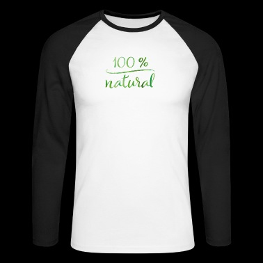 100% naturel - T-shirt baseball manches longues Homme