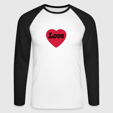 Heart with Love - Langermet baseball-skjorte for menn