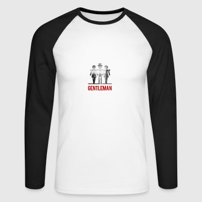 Gentleman with 2 Ladies - Men's Long Sleeve Baseball T-Shirt
