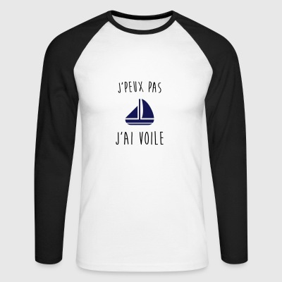 j'peux pas j'ai voile, je peux pas j'ai voile - T-shirt baseball manches longues Homme