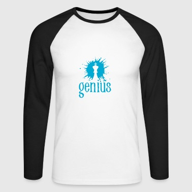 genius - Men's Long Sleeve Baseball T-Shirt
