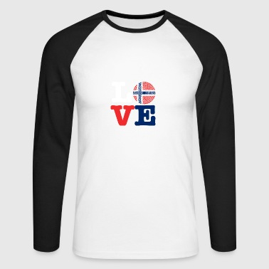 NORWAY HEART - Men's Long Sleeve Baseball T-Shirt