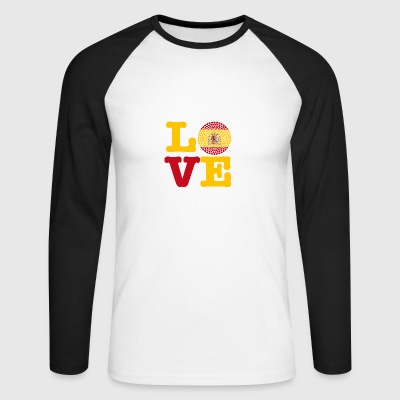SPAIN HEART - Men's Long Sleeve Baseball T-Shirt