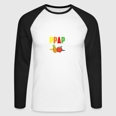 Apple pen Pineapple pen PinePineapple apple pen - Men's Long Sleeve Baseball T-Shirt